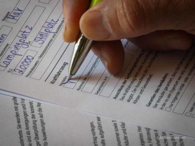 Kaufvertrag für Wohnmobile