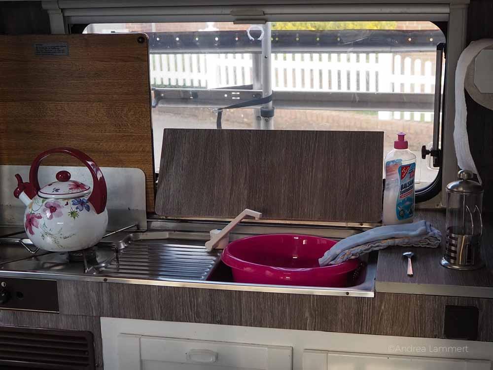 Küchenzeile im Oldtimer
