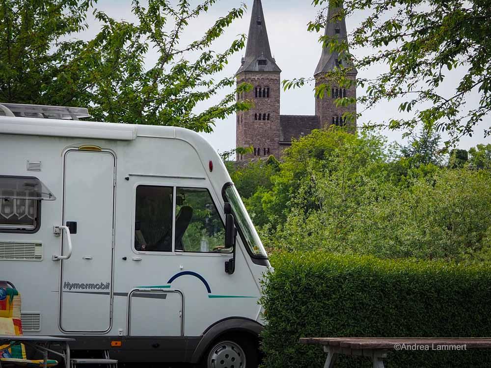 Wohnmobilstellplatz in Höxter.