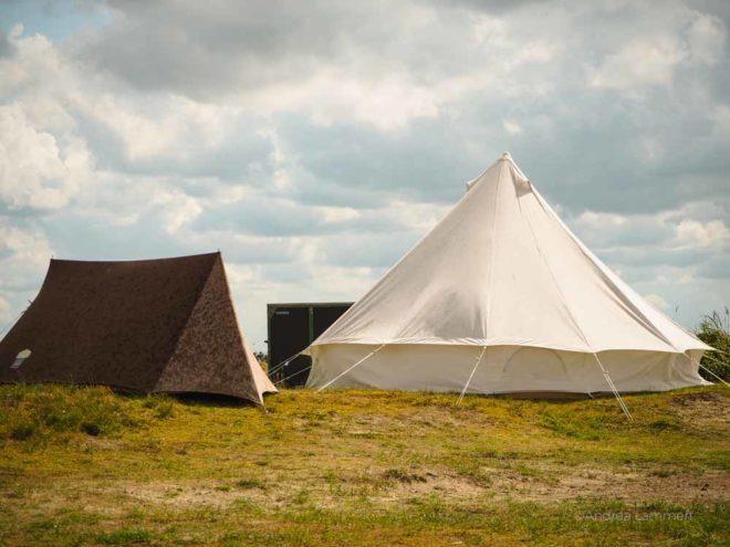 Zelte auf Spiekeroog, Sturmzelte