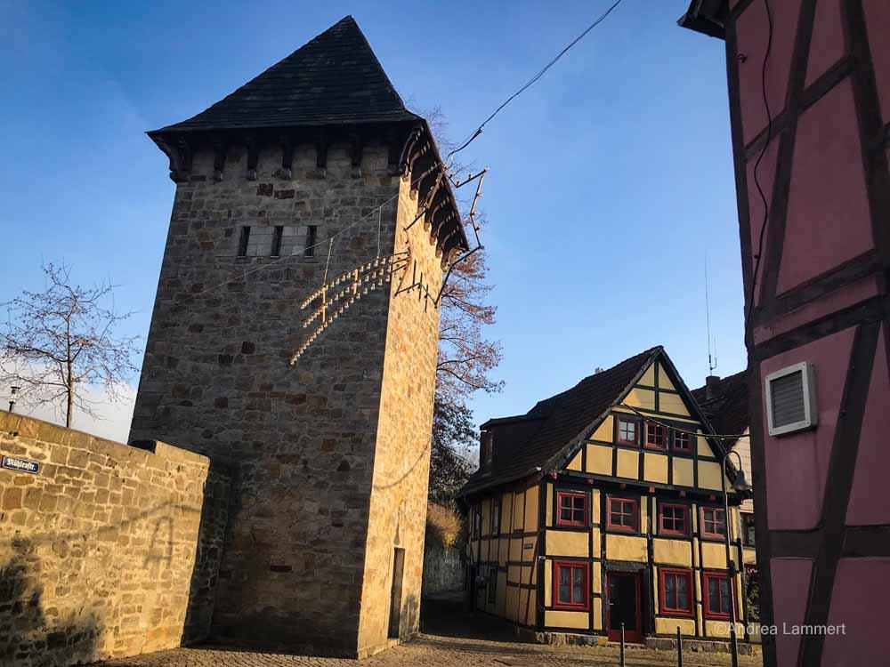 Die Innenstadt von Rinetln mutet mittelalterlich an.
