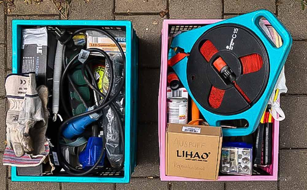 Technikset für das Wohnmobil, Packliste