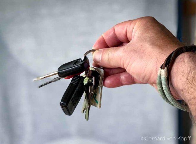 Wohnmobil mieten - Tipps für Einsteiger, Schlüsselübergabe