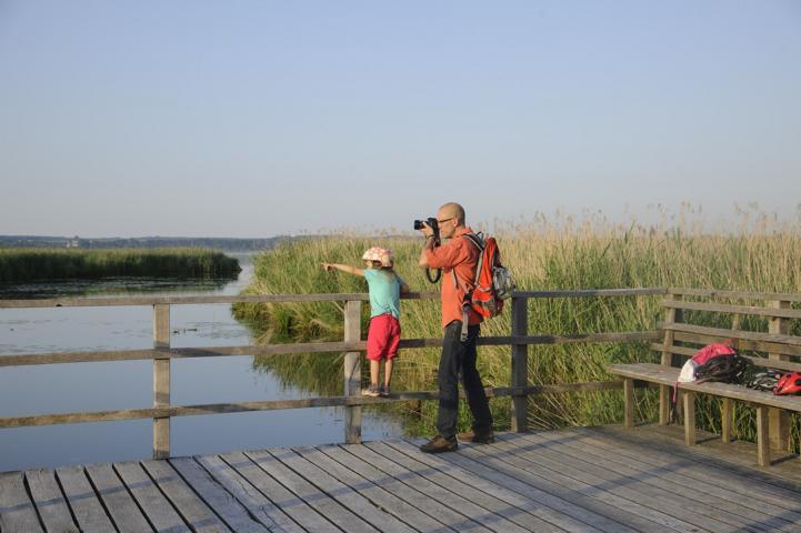 Mit der Familie unterwegs: Foto Oberschwaben-Tourismus.