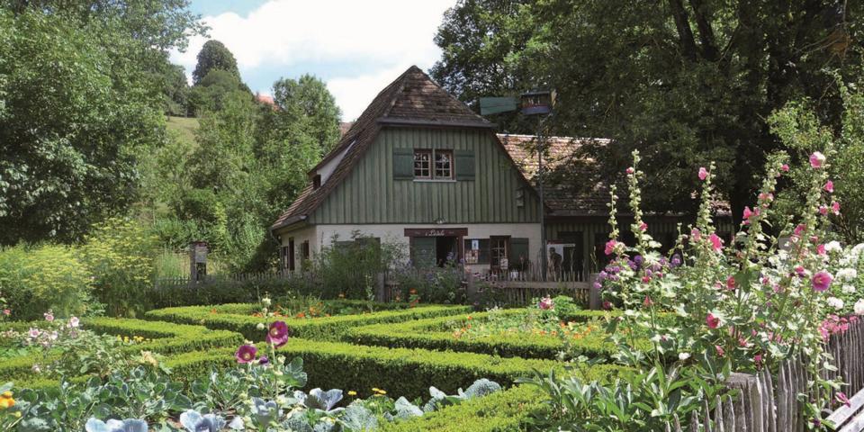 Kraeutergarten im Bauernhausmuseum Wolfegg. Foto: Bauernhausmuseum Allgaeu Oberschwaben