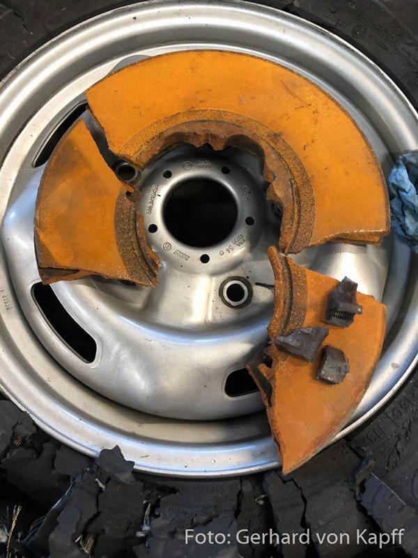 War die zerbrochene Bremsscheibe der Unfallgrund?