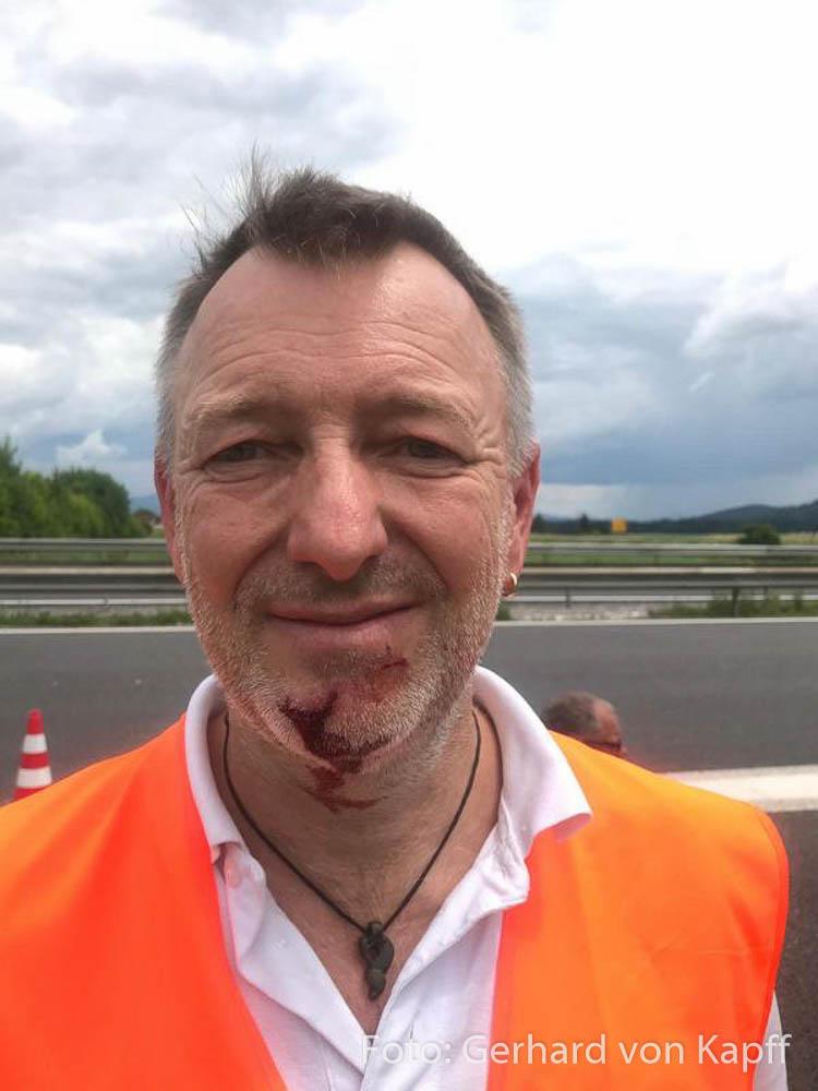 Unfall Wohnmobil Gerhard von Kapff