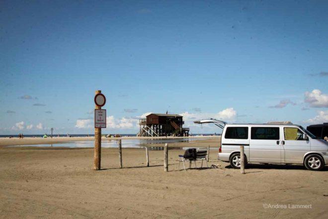 Strandparken mit dem Wohnmobil in Sankt Peter-Ording