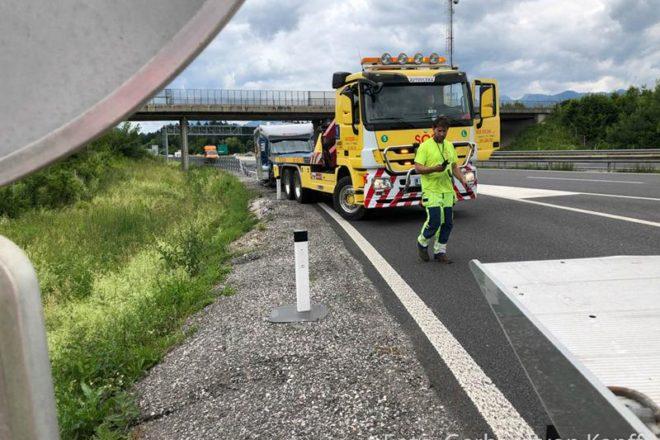 Unfall auf der slowenischen Autobahn mit dem Wohnmobil