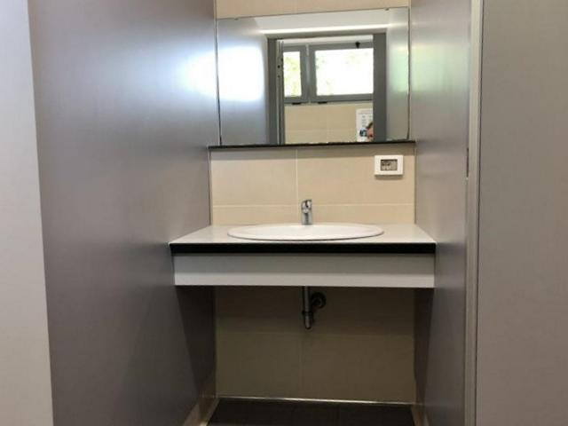 In edlem Design: Einer der Sanitärbereiche