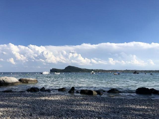 Aussicht vom Strand. Camping Fornella. Foto: Gerhard von Kapff